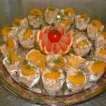 Buffet chic - Salade de crevettes au crabe et à l'orange