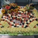 Buffet excellence - Terrine de gambas, brochette saumon fumé et coeur de palmier
